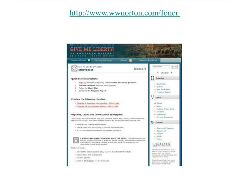 http://www.wwnorton.com/foner