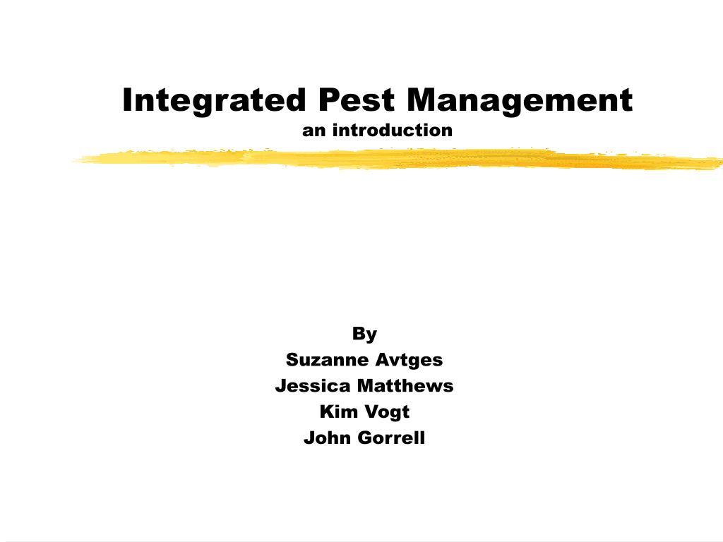 integrated pest management an introduction l.