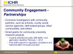 community engagement partnerships