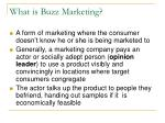 what is buzz marketing