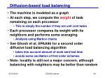 diffusion based load balancing34