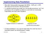 implementing data parallelism