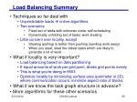 load balancing summary