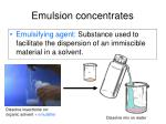 emulsion concentrates6