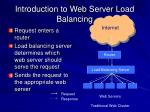 introduction to web server load balancing