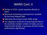 ward cont ii