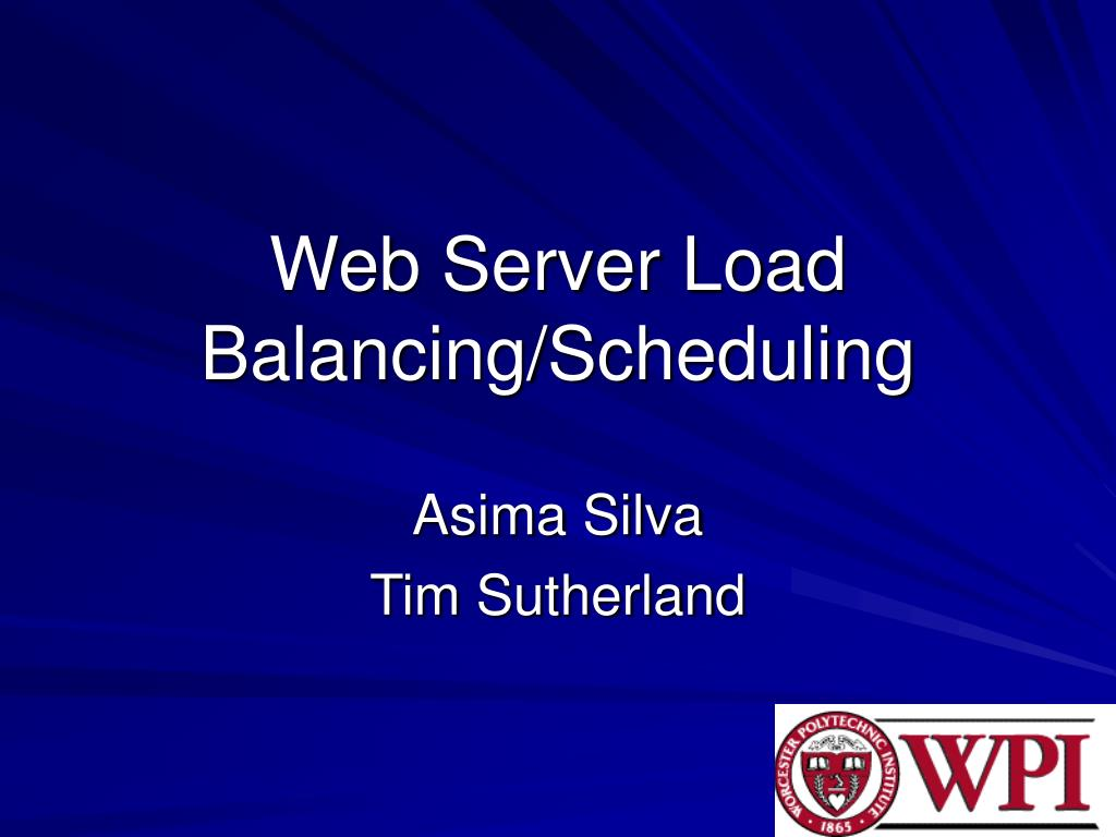 web server load balancing scheduling l.