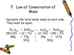 f law of conservation of mass1
