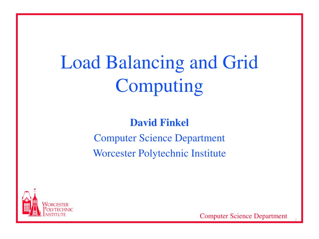 load balancing and grid computing l.