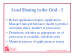 load sharing in the grid 3