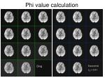 phi value calculation