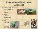 environmental modification categories