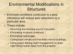 environmental modifications in structures