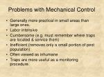 problems with mechanical control