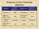 summary of non chemical methods