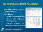 nchh ped env home assessment