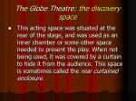 the globe theatre the discovery space
