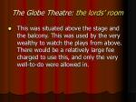 the globe theatre the lords room