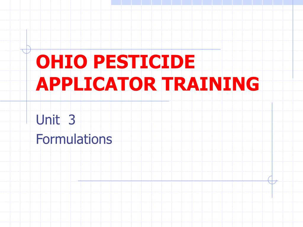 ohio pesticide applicator training l.