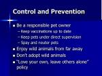control and prevention22