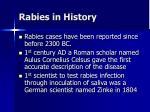 rabies in history