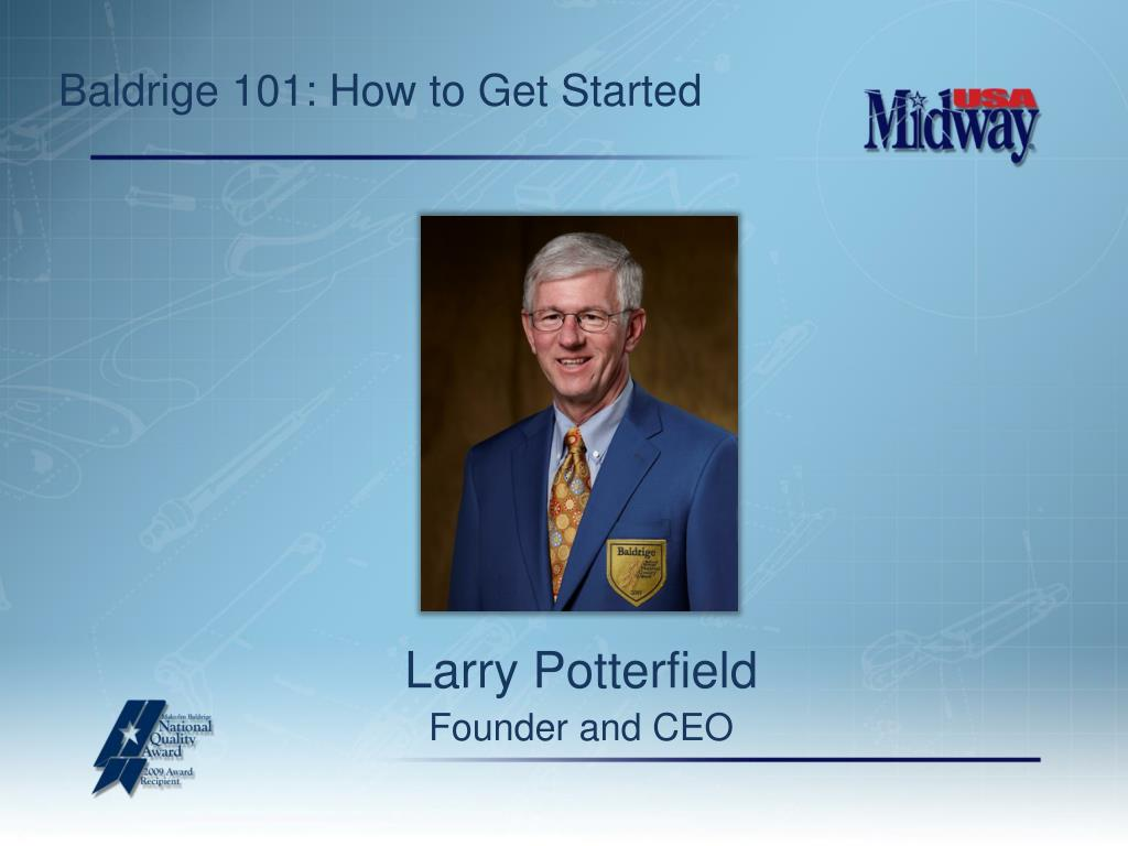baldrige 101 how to get started l.