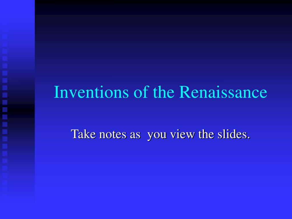 inventions of the renaissance l.