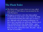 the flush toilet