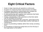 eight critical factors