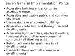 seven general implementation points