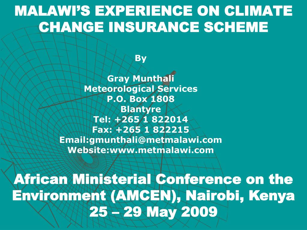malawi s experience on climate change insurance scheme l.