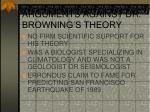 arguments against dr browning s theory