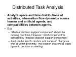 distributed task analysis