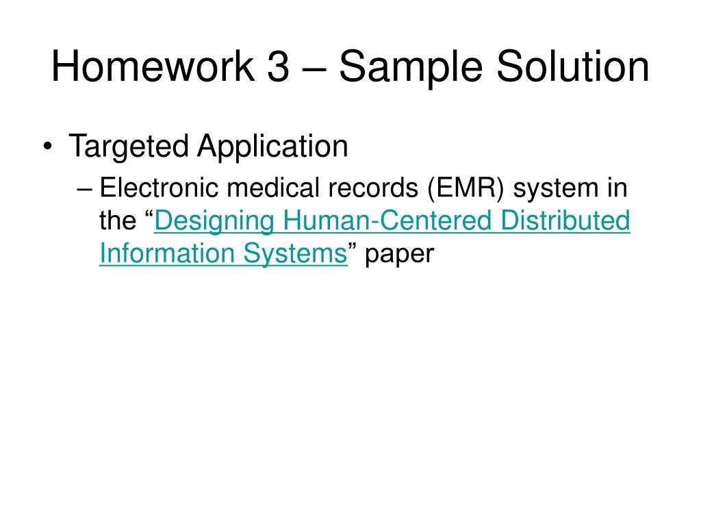 homework 3 sample solution l.