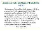 american national standards institute ansi