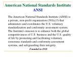 american national standards institute ansi