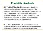 feasibility standards