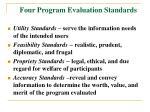 four program evaluation standards