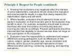 principle 4 respect for people continued
