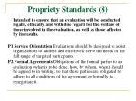 propriety standards 8