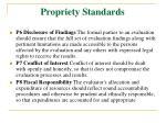 propriety standards21