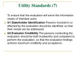 utility standards 7