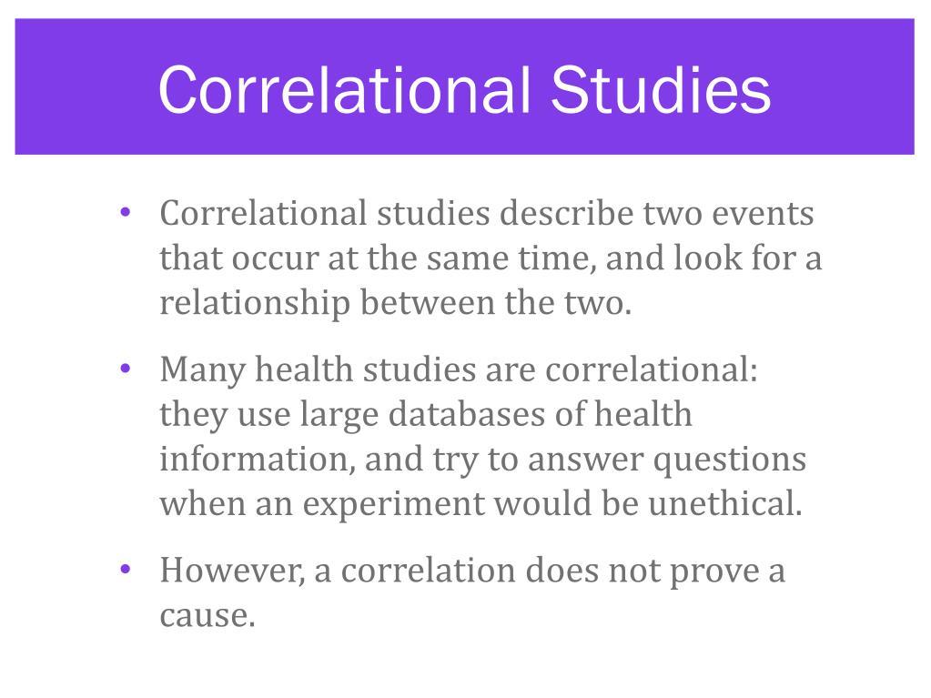Correlational Studies