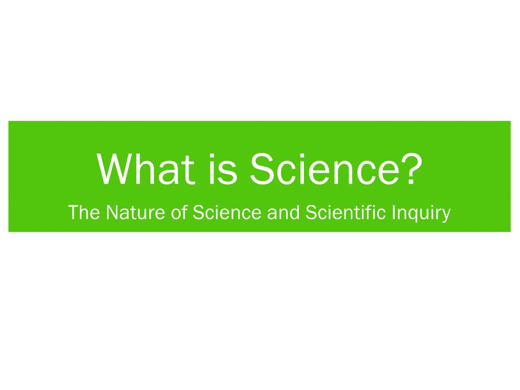 what is science l.