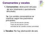 consonantes y vocales