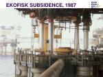 ekofisk subsidence 1987