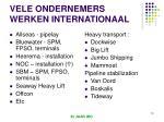 vele ondernemers werken internationaal