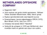 netherlands offshore company