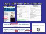 part 6 isef forms rules handbook