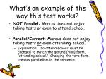 what s an example of the way this test works